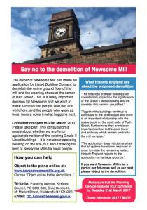 Say no to demolition advice sheet